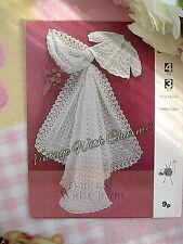 Vintage Knitting Pattern Baby's Shawl In 3 & 4-Ply Wool & Matinee Coat NO UK P&P