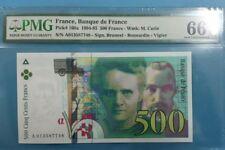 1994 -95 FRANCE 500 FRANCS PMG66 EPQ GEM UNC <P-160a> 1st Prefix A