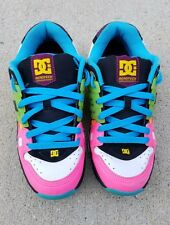 DC Men's Skate Shoes Size 8 Aerotech Performalite Neon Multicolor PRE-OWNED