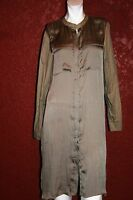 KENNETH COLE NEW YORK SHIRT DRESS  BROWN SIZE 8
