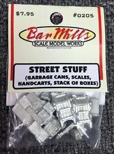 "Bar Mills 205 ""Street Stuff"" asst HO detail castings   MODELRRSUPPLY   $5 Coupon"
