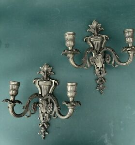 Vintage brass candle wall sconces