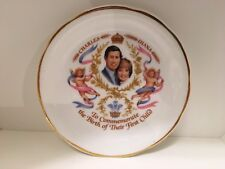 Vintage Princess Diana Prince Charles Birth Prince William 1982 Set Of 2 Plates