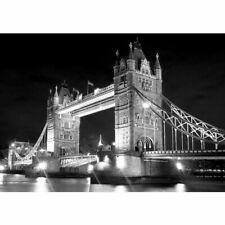 Fototapete London Brücke Tower Bridge Wolken England Nacht Lichter no. 2491