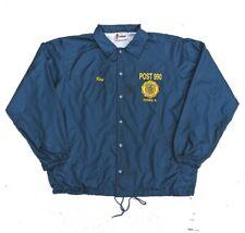Vintage Coach Jacket Mens XL Retro Americana Illinois - Navy Blue - 90s