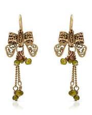 Pearl Brass Hook Costume Earrings