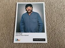 STEVE HALLIWELL AS ZAK DINGLE ITV EMMERDALE UNSIGNED CARD - MINT CONDITION