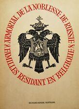 ARMORIAL de la NOBLESSE de RUSSIE en BELGIQUE Igor de Trétiakoff 1946