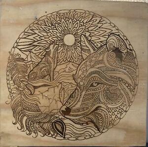 wood burning art pyrography