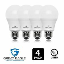 Great Eagle 100W Replacement A19 LED Bulb, Cool White, 1575 Lumens, 4000K (4-pk)