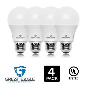 Great Eagle A19 100W Replacement LED Bulb Cool White 4000K 1500 Lumens (4-pk)