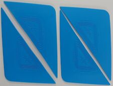 Lot of 4 Blue Tri-Edge Window Film Tint Installation Tool NEW