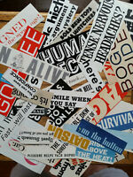Word Phrases Font EPHEMERA paper CRAFTING lot-scrapbooking ART collage clippings