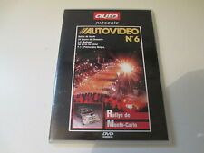 DVD AUTO PASSION AUTOVIDEO N° 6 JC ANDRUET MONTE CARLO CHAMONIX PEUGEOT 205 T16