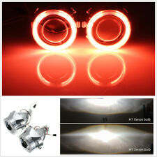 "2x 2.5"" HID Bi-xenon Projector Lens LHD/RHD headlight w/Light Guide Angel eyes"