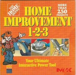 The Home Depot Home Improvement 1-2-3 by M2K for WIN 95/98/2000/XP & Mac 7.1