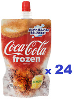Coca-Cola Frozen Lemon flavor 125gx24 pack Cola Frosy Shaved Ice in Pouch Japan