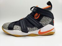 Nike LeBron James Soldier XI SFG Safari Orange Zoom Youth Shoe Size 6.5