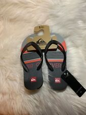 Quiksilver Mens Java  On It Black Sandals Flip Flops Size 8