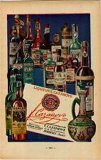 "ADVERTISEMENT "" Mini Poster "" Vineyard Wine Liqueurs Cazanove Bordeaux Kermann"