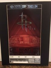 Houston Rockets Inaugural Game GIANT ticket 11 X 14