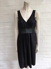 Etro Milano Wool Dress Hand Embroidered Sz I 44 UK 12 US 8 L Large
