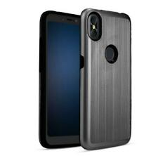 Shockproof Metal Brushed Hybrid Texture Slim Case For BLU R2 Plus 2019 6.2 inch