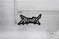 "4,72/""x2,13/"" Impending Doom band badge logo patch 12cm x 5,4cm"
