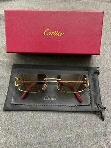 """Cartier Rimless """"C"""" Sunglasses"""