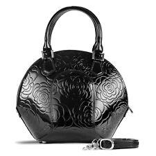 Bravo Handbags, Women's Svetlana Flower Print Bag, Black, handbags, purses