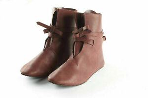 Roman Leather Shoes Reenactment Theater Brown Color Good Looking