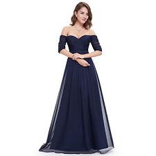 Bridesmaids' Unbranded Chiffon Half Sleeve & Formal Dresses