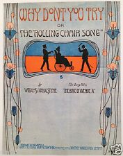 """SHEET MUSIC STORE POSTER """"ROLLING CHAIR SONG"""" ADVERTISING LARGE FORMAT"""