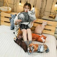 Plush Toy Pillow Cushion Sofa Decor Animal Cat Tiger Cartoon Stuffed Gift