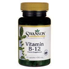 VITAMIN B12 100 CAPS 500 MCG SWANSON CYANOCOBALAMIN