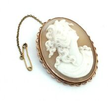 Ladies/womens, 9carat/9ct rose gold vintage cameo brooch