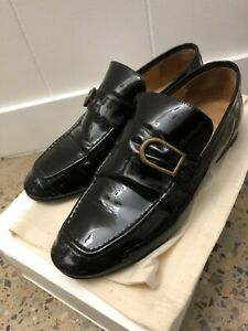 Isabel Marant Black Patent Leather Loafers Size 38