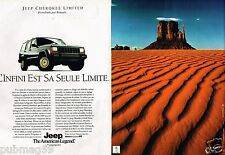 Publicité advertising 1991 (2 pages) Jeep Cherokee Limited 4X4