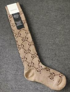 GUCCI Socks Women's brown silver glitter Cotton Socks