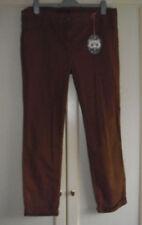 Straight Leg Cotton Blend Plus Size 30L Trousers for Women