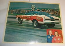 Vintage Original NHRA SOX & MARTIN Plymouth Duster  poster Hand out picture 72 ?