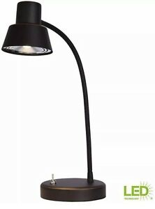 Hampton Bay 14 in. Oil Rubbed Bronze Integrated LED Desk Lamp