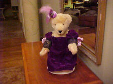 MUFFY VANDERBEAR ~ ALICE MOM DRESSED MUSICAL SOIREE PURPLE VELVET