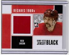 REED LARSON 10/11 Decades Game-Used Jersey #M-65 Detroit Red Wings Hockey Card