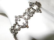 Vintage Monet Rhinestone Bracelet  Victorian Style