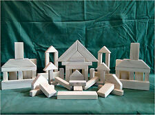 116 Piece Toy Building Block Set - Handcrafted in the USA - Natural Wood Blocks