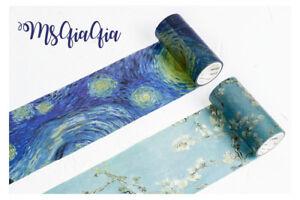 Washi Paper Tape Masking DIY 9CM WIDE Sticker Roll Adhesive Gift journal
