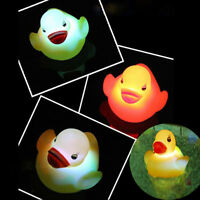 1Pc Lovely Duck Light Baby Kids Bath Toy Flashing LED Changing Lamp Multi Color