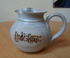 """""""LINDISFARNE"""" STONEWARE JUG(LINDISFARNE HOLY ISLAND,NORTHUMBERLAND)-HEIGHT10.1cm"""