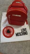 zaino love moschino Rosso Logo LOVE MOACHINO originale SCONTATO!!!